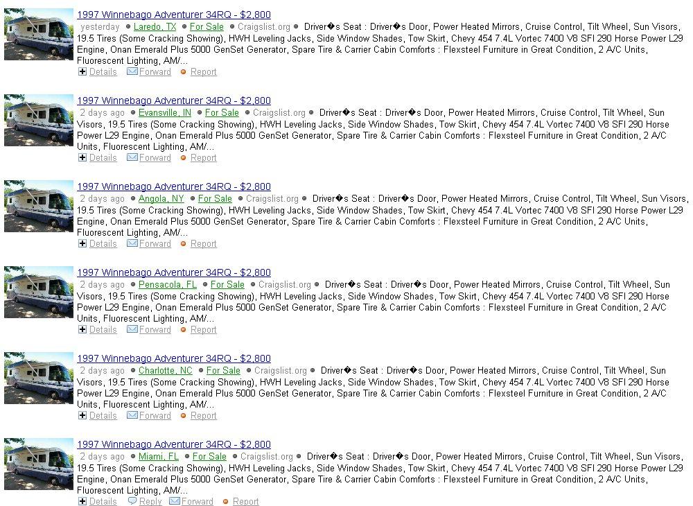 Yahoo Craigslist Cities Autos Post